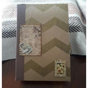 Junk Journal - Caderno Feito À Mão Decorado Com Bolsos