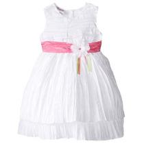 Vestido Blanco Talla 18/24 Meses A 4 Años (bautizo,fiestas