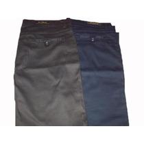 Pantalon Dama Talles Grandes Razado De Gabardina Elastizados