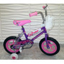 Bicicleta Para Niñas Nuevas Importadas Rin 12 Con Rueditas