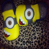 Mocasines De Niños Niñas Bebe Minnie Mickey Zapatos Minions