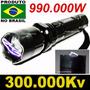 Lanterna De Choque Led Tatica 990.000w Taser Melhor Que X900