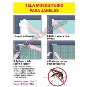 Tela Mosquiteiro Janela Contra Mosquito Inseto 120x150