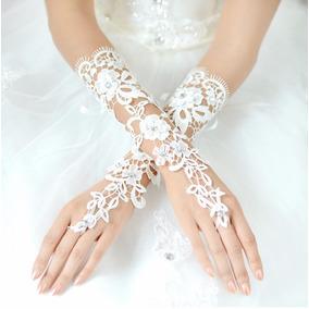 Linda Luva De Noivas E Debutantes, Casamento, Renda Branco