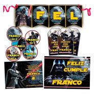 Kit Star Wars Candy Bar Invitaciones Banderín