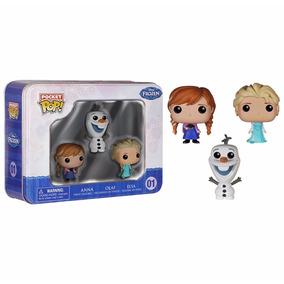 Anna, Olaf, Elsa Frozen Disney Funko Pocket Pop! Lata Filme