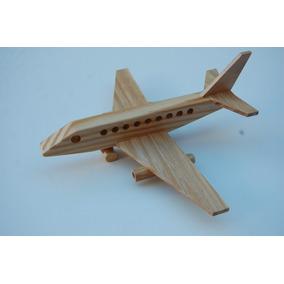 Brinquedo De Madeira - Avião A Jato (jet Plane)