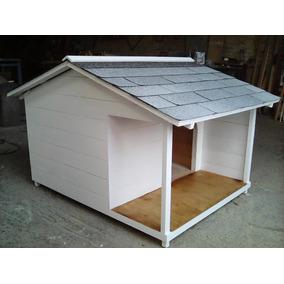 casa para perro terraza lateral no techo contra lluvia