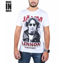 Camiseta Made In Mato Jãum Lennon - Branca