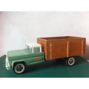 Camion De Chapa Antiguo Con Caja Original San Mauricio