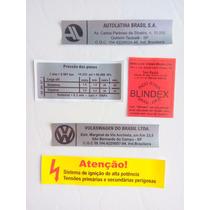 Manual Peças E Serviços Fusca Itamar 1994 A 1996 Etiquetas