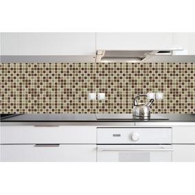 Papel De Parede Pastilhas Decorativo Cozinha Lavável M23