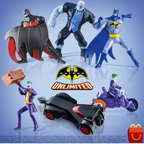 Batman Unlimited Mc Donalds Lanche Feliz Coleção Completa