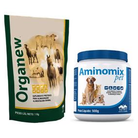 Organew 1 Kg Probiótico + Aminomix Pet Pó 500g Vetnil