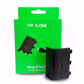 Kit 3 Bateria Cabo Carregador Controle Xbox One Charge Play