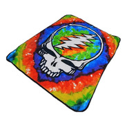 Frazada Skull Grateful Dead 1.27 X 1.52 M Suavecita Colorida