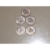 Moneda 10 Centavos Elote, Lote De 5 Monedas.