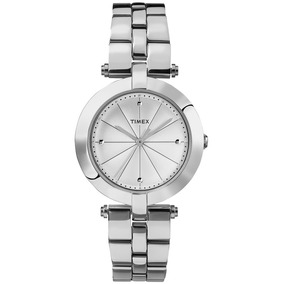 Reloj Para Dama Timex - Modelo Greenwich En Acero Inoxidable