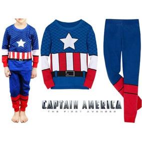 Pijama Niños Capitán América Tipo Disfraz
