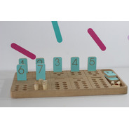 Aprendizaje Tabla Numerica Madera Montessori Waldorf