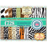 Kit Imprimible Fondos Decoupage Animal Print Cebra Tigre