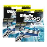 Carga Gillette Mach3 Turbo (8 Cartuchos: 2 Caixas C/ 4 Cada)