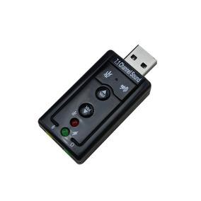 Placa De Som Adaptador Usb 7.1 Canais Virtual Audio