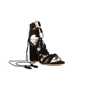 Trender Sandalia Color Negro Con Tacon 9310542