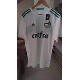 Camisa adidas Palmeiras Ii 17 Branca G Oficial Frete Grátis