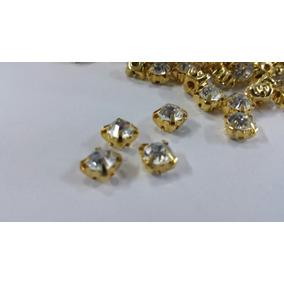 100 Strass Dourado Para Costura Vestidos Noivas