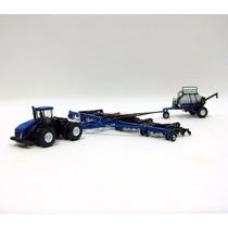 Miniatura Trator New Holland T9.670 + Plantadeira À Ar P2070