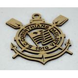 Super Emblema Em Mdf Seu Time Coração Corinthians