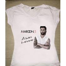 Playera Adam Levine Maroon 5 Varios Diseños Concierto Mexico