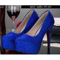 Sapato Madrinha De Casamento, Formatura Com Salto Plataforma