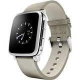 Pebble Time Steel Smartwatch Para Apple / Dispositivos Andro