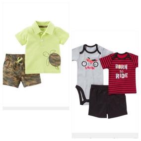 2 Conjuntos Camisa Shorts Pañalero Talla Recién Nacido