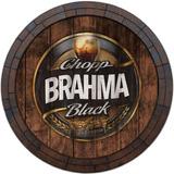 Quadro Tampa De Barril Vintage Cerveja Whisky Brahma Black