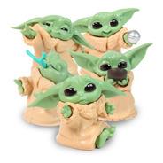 Baby Yoda Disney Star Wars Figura Mandalorian Paquete 5 Pzs
