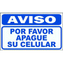 Cartel Aviso Por Favor Apague Su Celular -alto Impacto 22x28