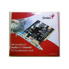 Tarjeta De Audio Genius, 5.1 Channel Pci Acceleration Card.