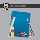 Kit Etiquetas Sticker Personaliza Escuela Cole Disney Mickey