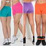 Shortinho Suplex Liso Moda Fitness Academia Praia Feminino