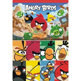 40 Bolsitas Golosineras Tela Angry Birds Frente Dorso 14x20