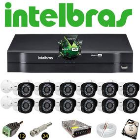 Kit Dvr Intelbras Mhdx Multihd 12 Câmeras Vm 1120 Hd 320gb