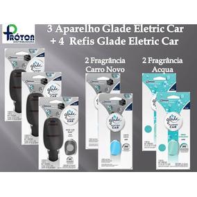 3 Unid. Aparelho Glade Eletric Car + 4 Refis Glade