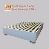 Base Sommier Box Somier Cama Dos Plazas Moderno Laca