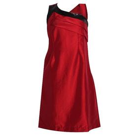 Vestido Vermelho De Tafetá