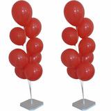 Kit Com 2 Suportes P/ Bolas Imitando Gás Hélio Para 8 Balões
