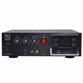Amplificador Musica Funcional Vmr Pa-450be 60w Usb Radio Mic