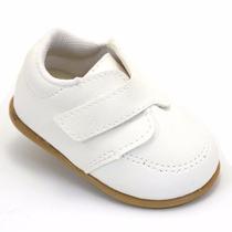Sapatinho Branco Bebê - Café Com Leite - Batizado Casamento